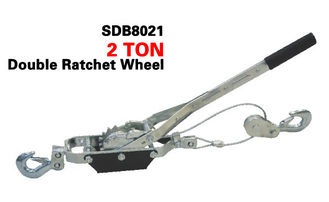2 tonne Manual Hand Power Puller , Single / Double Ratchet Wheel Cable Hoist Puller