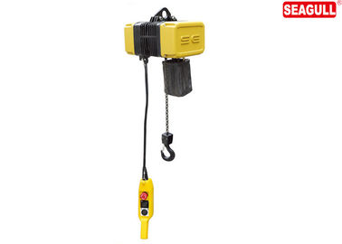 IP54 Waterproof 1 Ton Electric Chain Block 200kg - 1000kg With Double Speed Motor