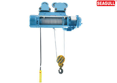 Warehouse Wharf Electric Chain Hoist With Trolley / 10T Wire Rope Pulling Hoist