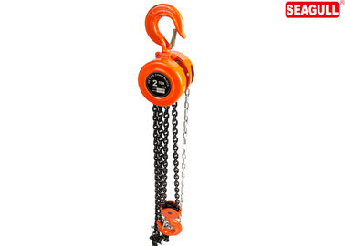 HSZ-E Round type Manual Chain block 2 ton OEM hand chain hoist , Orange