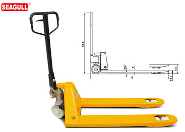 Manual Pallet Truck Rated Load 2500 - 3500kg With 54mm Fork Thickness