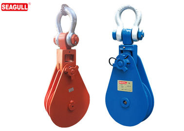 Manual 50 Ton Single Sheave Snatch Blocks Pulley Dia 600mm For Warehouse
