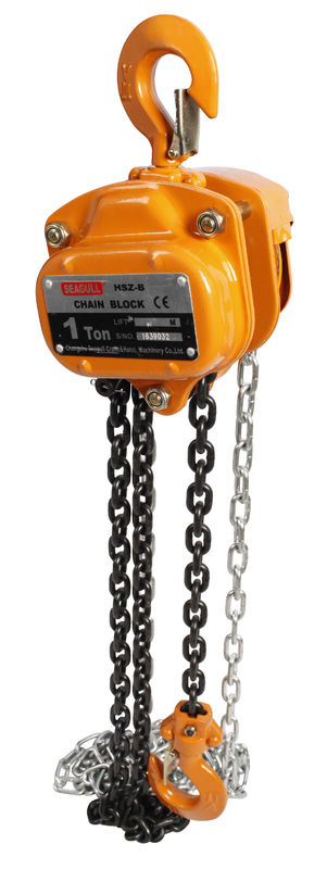 CE Approved Hand Lifting Chain Block , Alloy Steel Manual 10 Ton Chain Hoist