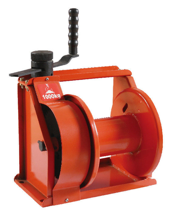 Orange Heavy Duty Hand Lifting Winch Manual Hand Winch For Boat