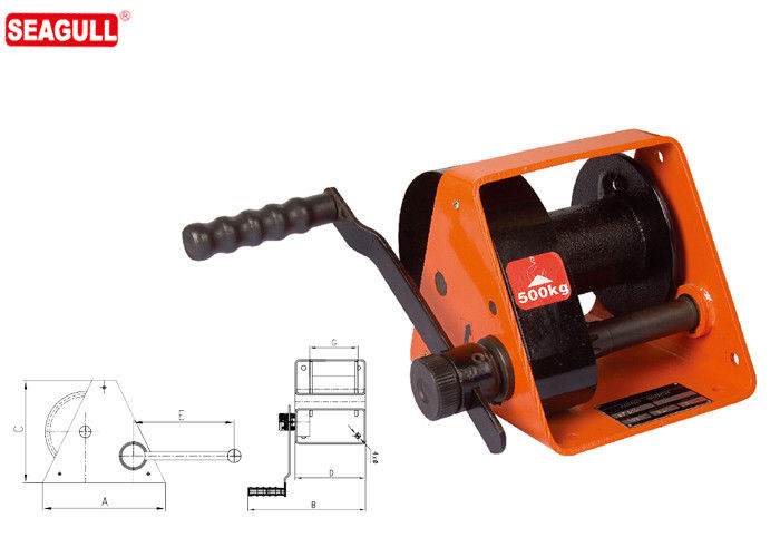 HWG Type Portable Hand Lifting Winch Heavy Duty With Handle Adjustment