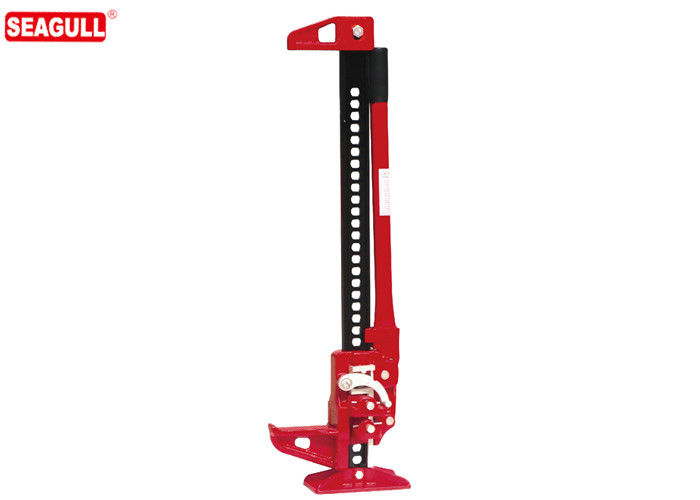 Red Painting Mechanical Lifting Jacks , JJ048 4WD Car 48 Inch Farm Jack