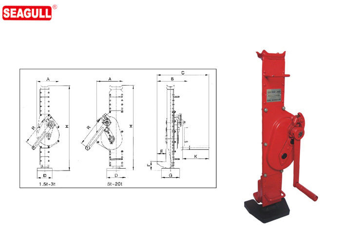 1.5 ton - 25 ton Mechanical Construction Small Lifting Jack With Long Working Life