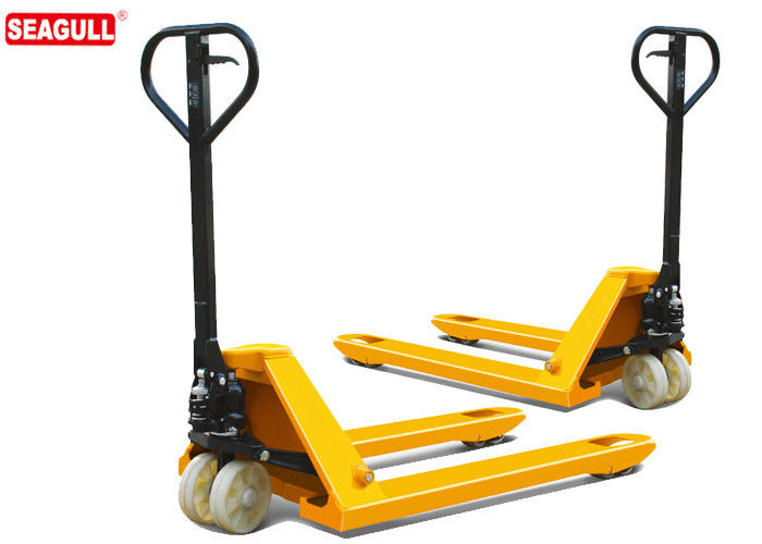TUV 5 Ton Hydraulic Hand Pallet Truck For Wharf , 54mm Fork Thickness