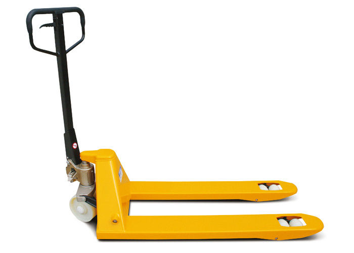 Strength Alloy Steel Hand Pallet Truck Hydraulic Type For Warehouse Use