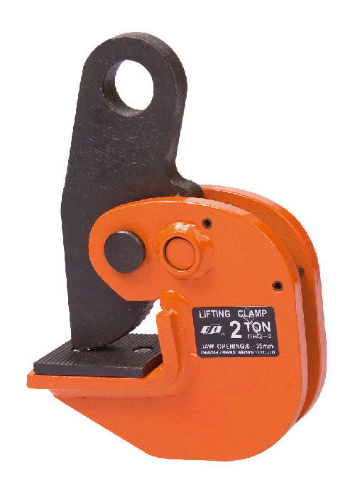 Heavy Duty 10 Ton Horizontal Lifting Clamp For Steel Plate , Gripper HRC 52-57
